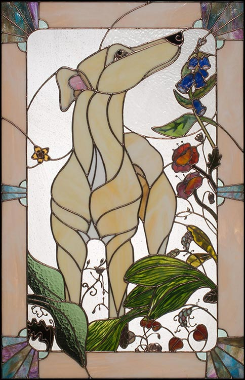 Stained Glass Art by Tiboron Glass Design. Red's Garden.